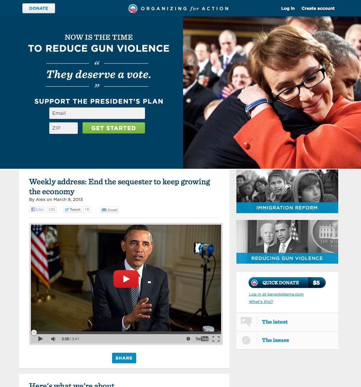 Webové stránky Baracka Obamy