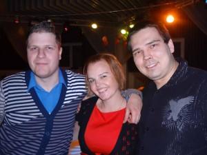 Jan Linhart, Petra Větrovská a já na afterparty