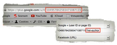 Nastaveni autorství na webových stránkách