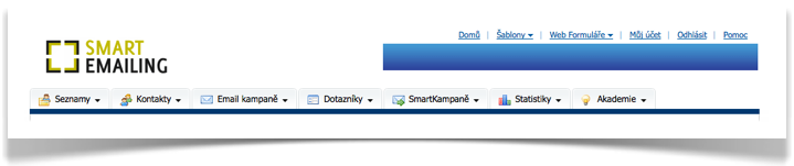 SmartEmailing domovská stránka